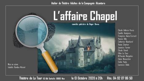 affiche L'Affaire Chapel Cie Alcantara modifiée